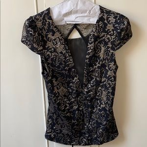 Fancy, V neck Top